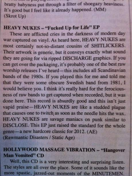 Heavy Nukes MRR Review